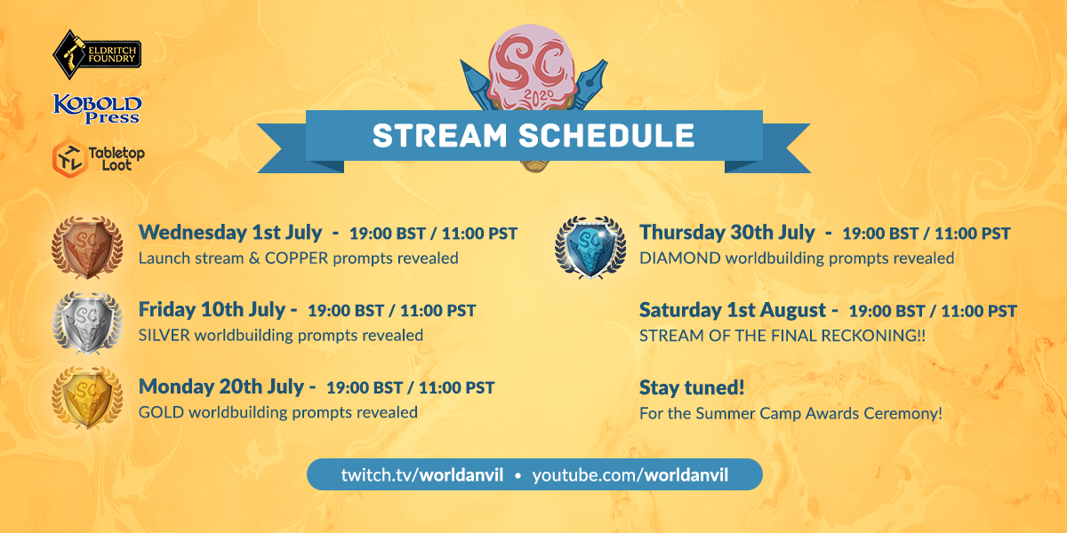 July stream schedule
