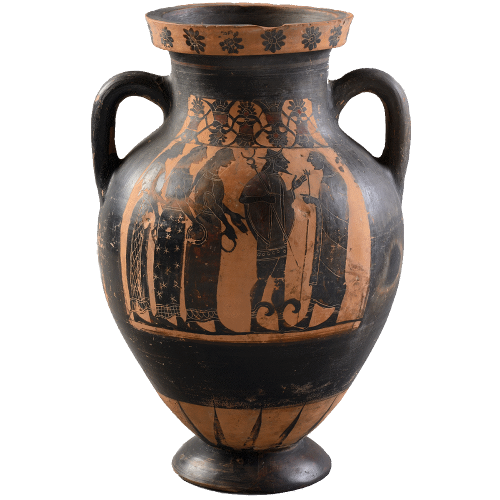 The Judgement of Paris on 6th Century BCE black-figure Attic pottery